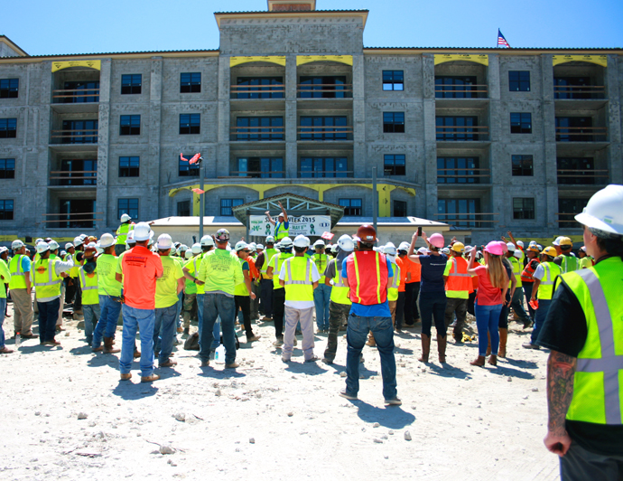 DeAngelis Diamond Holds Safety Week at Arlington of Naples Construction Site