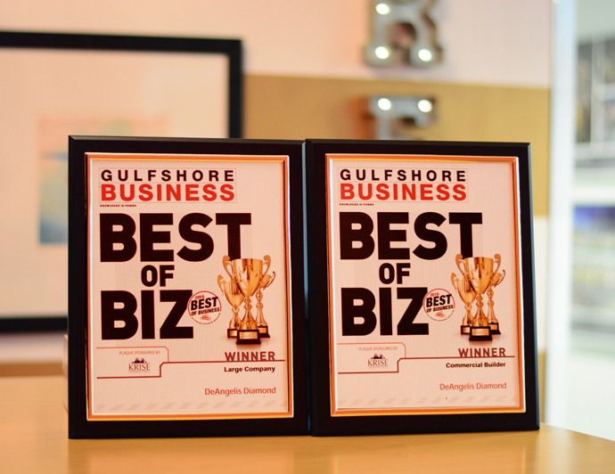 DD Voted Best Large Company and Best Commercial Builder at 2016 Gulfshore Business, Best of Business Awards