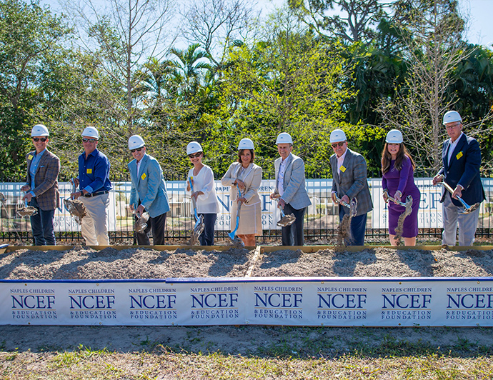 DeAngelis Diamond Breaks Ground On New Headquarters for Naples Winter Wine Festival foundation