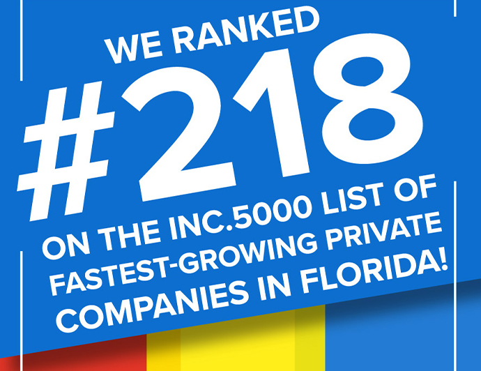 DeAngelis Diamond Ranks #218 on Inc. 5000's Fastest-Growing Private Companies, FL